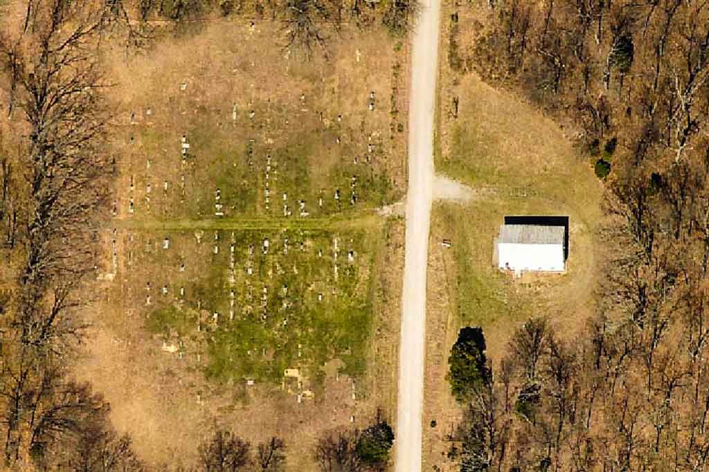 Albion Church and Cemetery Aerial